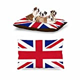 KESS InHouse Bruce Stanfield ''Classic Union Jack'' Blue Red Dog Bed, 30'' x 40''