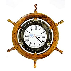 51pZ4yO3mOL._SS300_ Best Ship Wheel Clocks