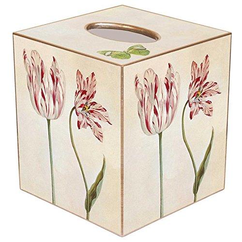 Kelly Tissue Box Cover Tissue Holder Square Cube Paper Mache Decorative Tulip