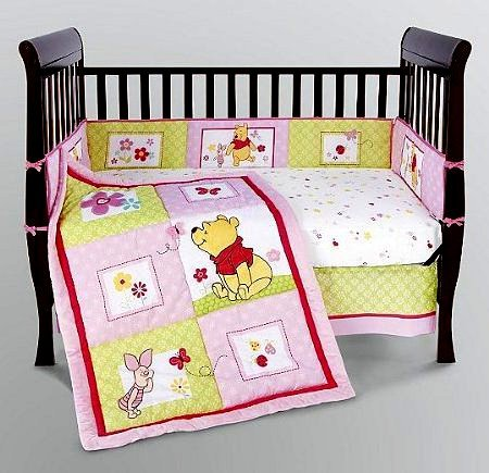 Disney Precious Pooh 5-Piece Crib Bedding Set, Baby & Kids Zone