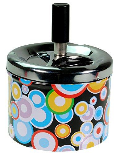 Immerschön Aschenbecher in vielen Motiven und tollen Farben 70´s 80´s Retro-Design Kreise Drehaschenbecher Schleuderaschenbecher