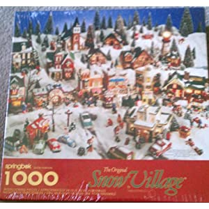 Springbok 1000 Interlocking Piece Puzzle -- The Original Snow Village by Hallmark