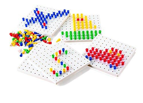 - Learning Advantage 39470 Pegs & Peg Boards Set, Grade: Kindergarten to
