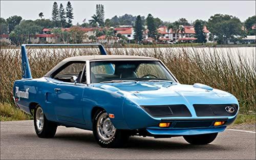 Light Roadrunner - Innerwallz Plymouth Retro Road Runner Superbird 1970 Light Blue Cars Wall Art, Pop Art, Poster, Art Prints | Rare Posters