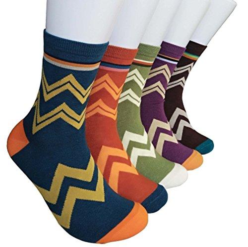 - ZHW Men's Cotton Dress Socks Argyle Stockings Socks ((5pcs))