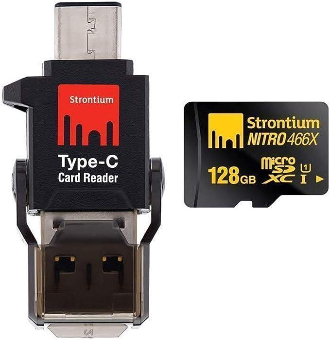 Strontium Srn128gtfu1p Nitro 466x 128gb Microsdxc Computers Accessories