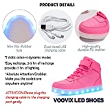Voovix Kids LED Light Up Shoes High-top Flashing