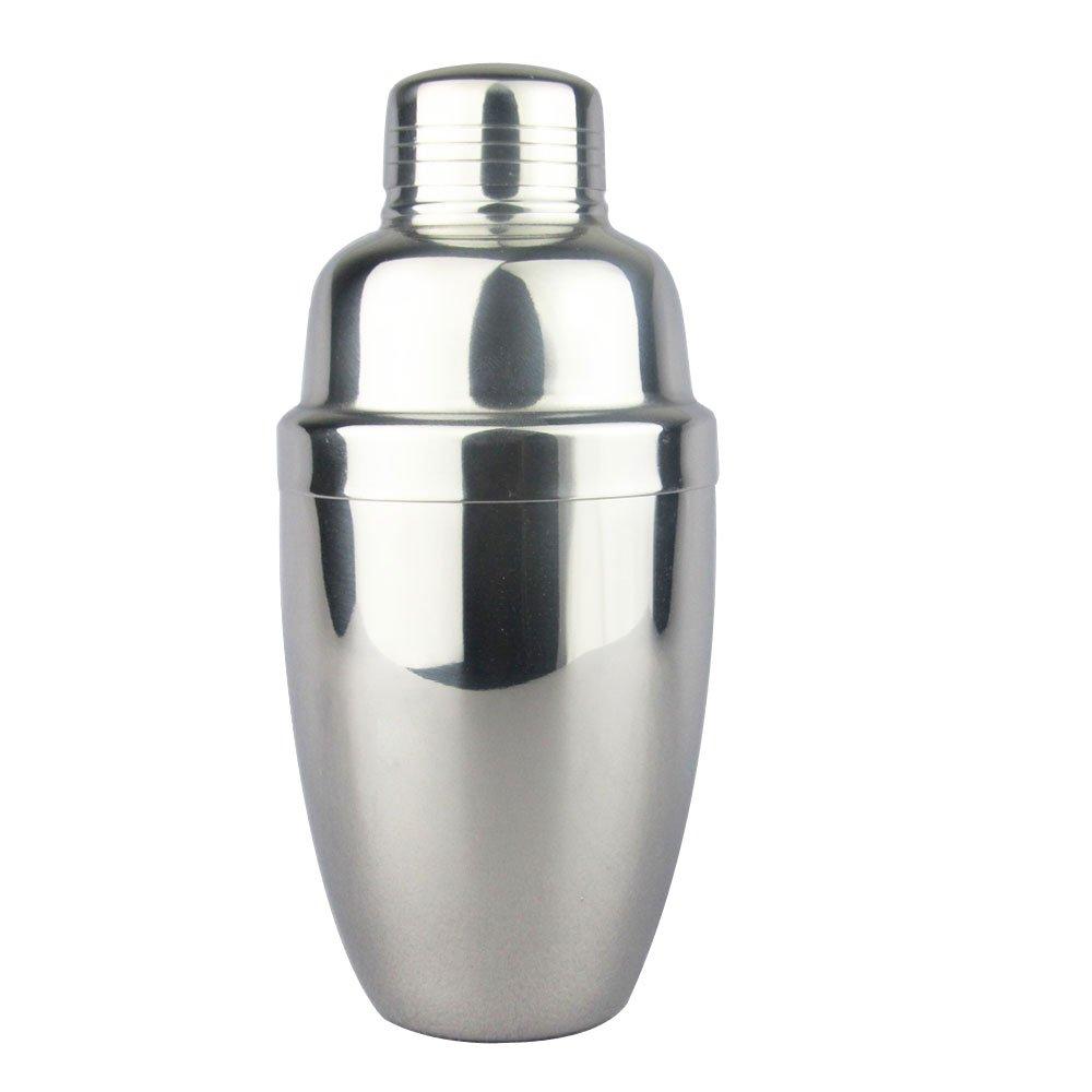 Lautechco Stainless Steel Martini Cocktail Shaker Bar Tools Wine Shakers (18 Oz/550ml)