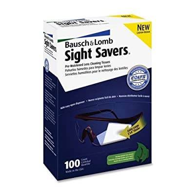 """Bausch & Lomb Sight Savers Pre Moistened Lens Cleaning Tissue - 100 Per Box - 100 / Box - 5"""" x 8"""""""