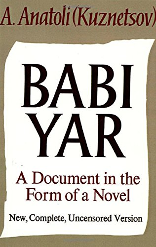Babi Yar: A Document in the Form of a - Map Mall City Garden