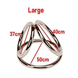 Delay Time Cock Ring Stainless Steel Ball Stretcher Penis Ring Male Prolong Cockring Metal Scrotum Erotic T