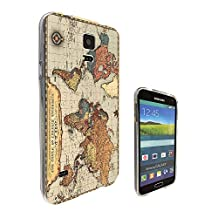 002638 - Vintage World Map The World Design Samsung Galaxy S5 / Galaxy S5 Neo Fashion Trend CASE Gel Rubber Silicone All Edges Protection Case Cover