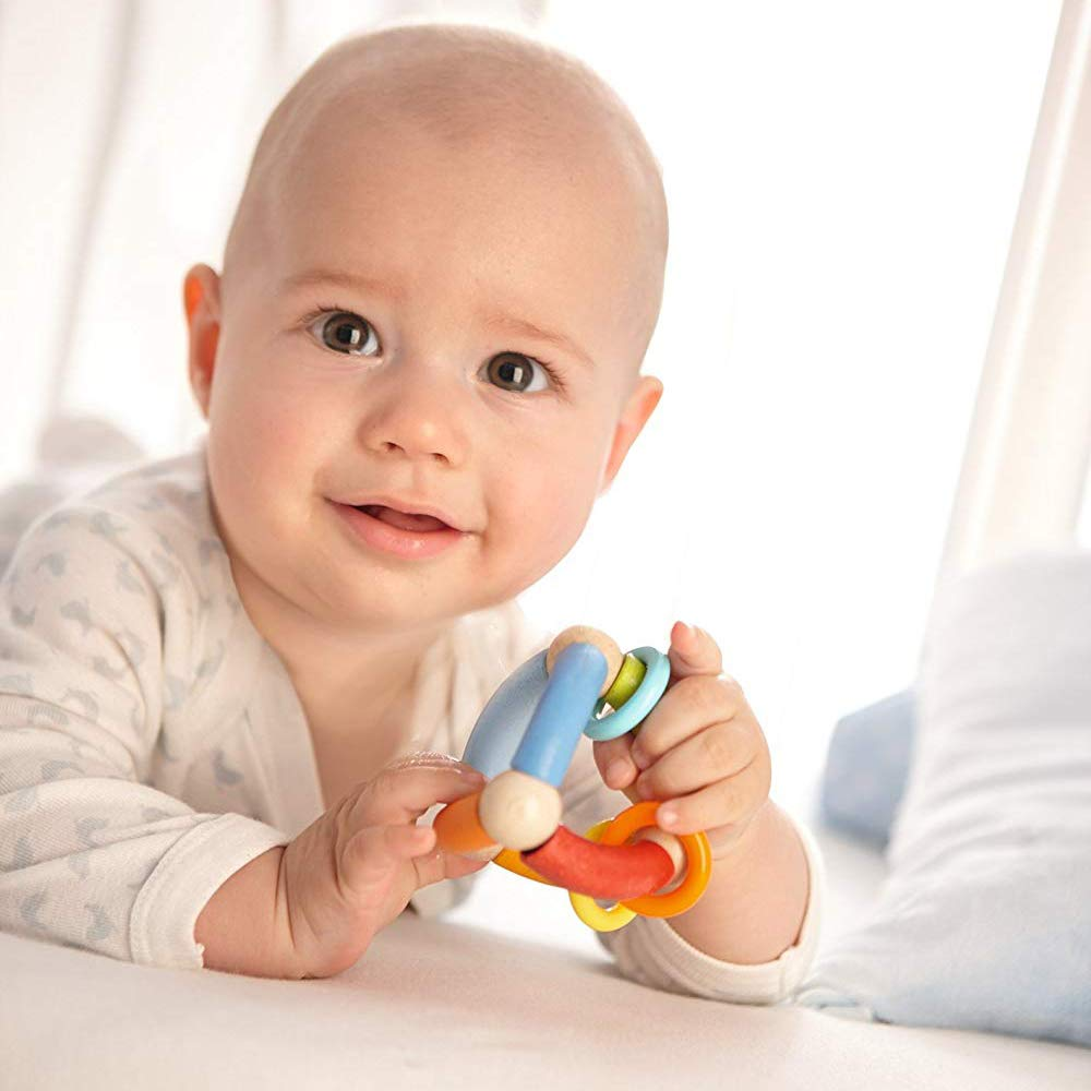 non-toxic baby toy triangle clutch