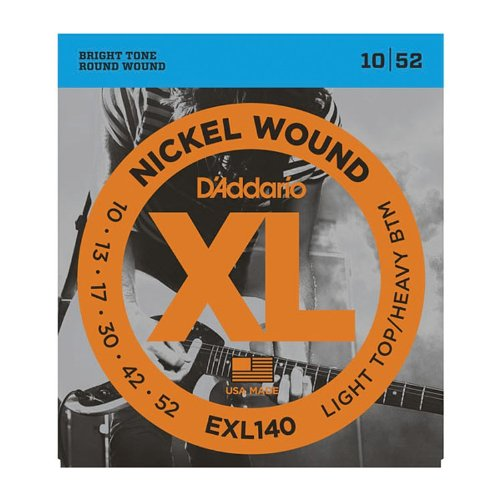 D'Addario EXL140x5  Elec Guit Strings, Nick, Rnd Wnd, Light
