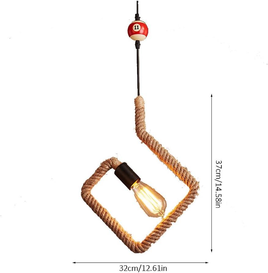 Hujindong lamp Lámpara de Billar de Estilo Europeo Billar, Personalidad Creativa Lámpara de araña Industrial Retro ...