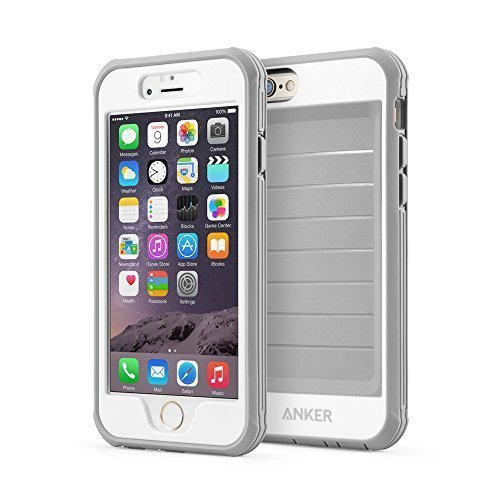 Item Details: iPhone 6s Case, Anker Ultra Protective Case with Built-in Clear Screen Protector for iPhone 6 / iPhone 6s (4.7 inch), Dust Proof Design (Gray/White)