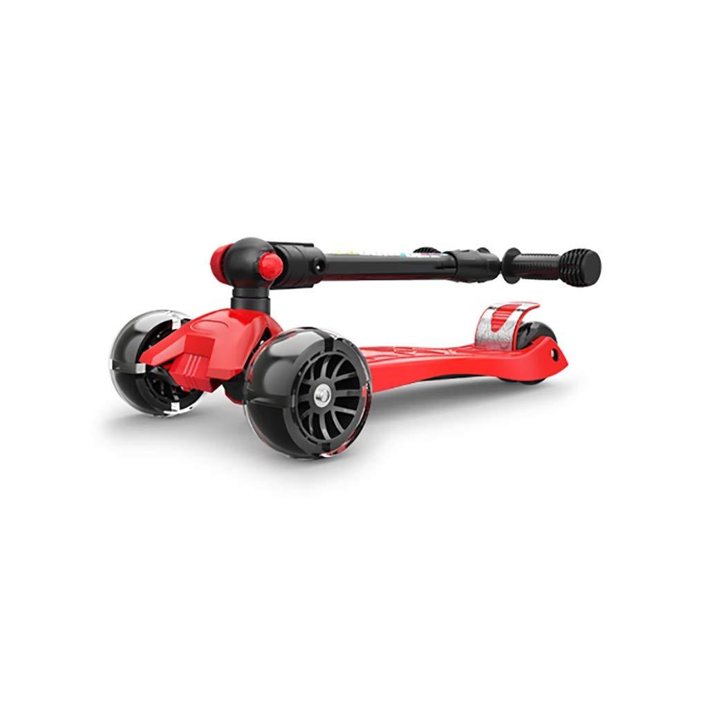 赤い折りたたみスクーター B07R7FF3BH、調節可能なハンドル&軽量構造 B07R7FF3BH, 杜の都@SHOP:cf3042d3 --- cooleycoastrun.com