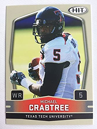 Amazon.com  2009 SAGE Hit Football  5 Michael Crabtree NM M (Near ... cfcd789c1