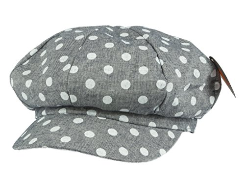 NTC TNC newsboy Gatsby IVY Cap Golf Cabbie Driving Hat With Dot Print Gray