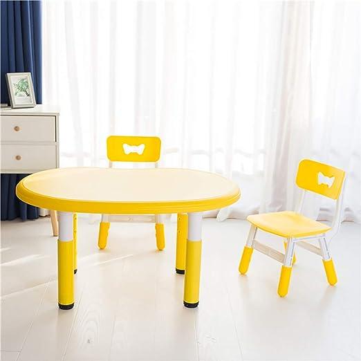 Juego de mesa y silla de estudio para niños, El plástico puede ...