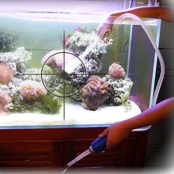 Anself 1.43M Aquarium Fish Tank Cleaner Water Siphon Vacuum Gravel Cleaner Syphon Aquarium Accessory