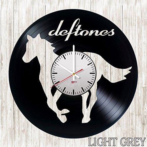 - Deftones Handmade Vinyl Record Wall Clock - Get unique living room wall decor - Gift ideas for boys and girls, teens - Rock Music Unique Modern Art Design