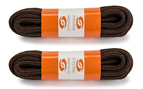 ae65da859c11 OrthoStep Round Athletic Brown 40 inch Shoelaces 2 Pair Pack ...