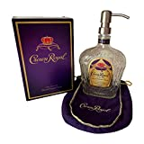 Crown Royal Whiskey Soap Lotion Dispenser Pump Complete with Box and Bag (Stainless Birdshead)