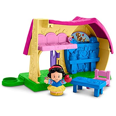 Fisher-Price Little People Disney Princess, Snow White's Kindness Cottage Playset: Toys & Games