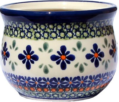 Polish Pottery French Butter Dish From Zaklady Ceramiczne Boleslawiec 1512-du60 Unikat Pattern