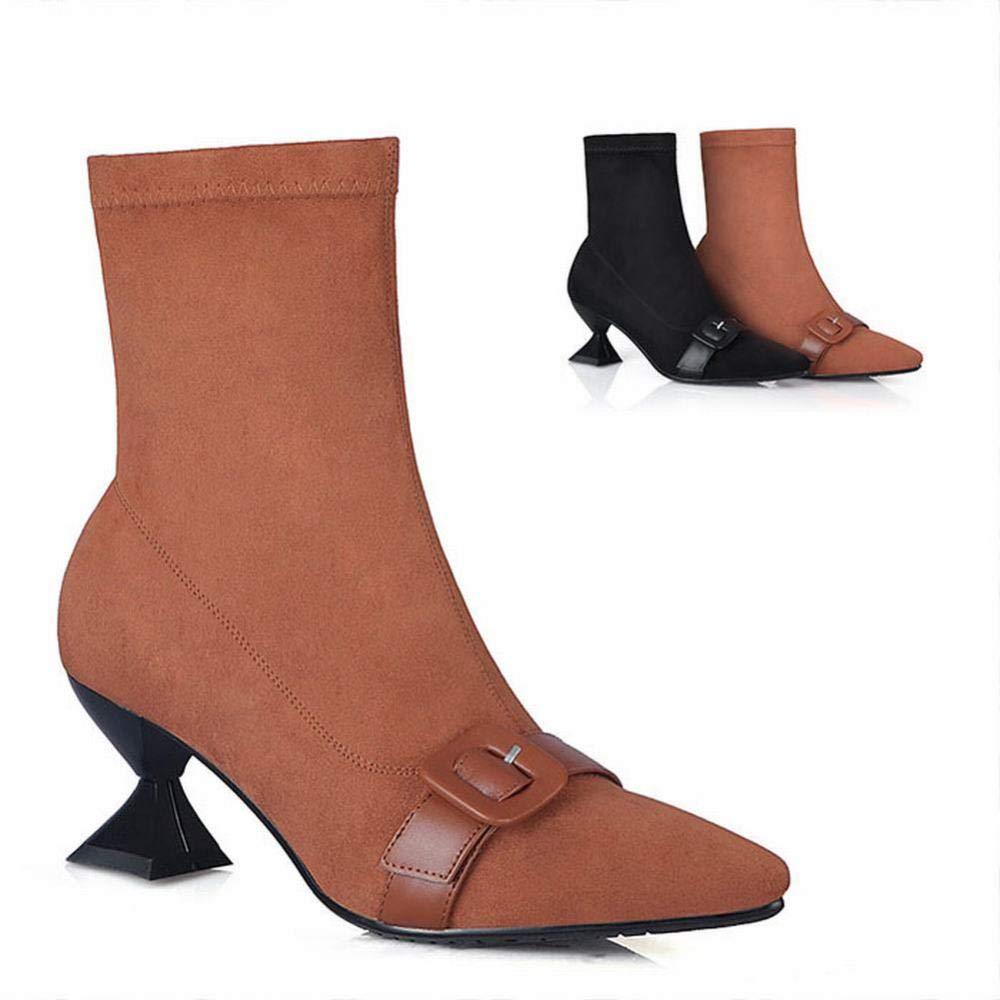 Stiefel Für Damen-Slip Warme Schneeschuhe Spitzenwurzel Stiefel   34-39