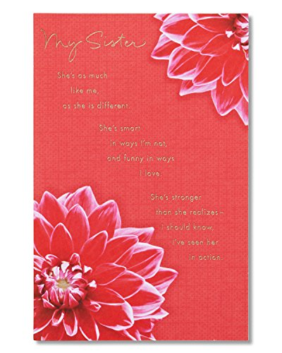 American Greetings My Sister Birthday Card for Sister with Foil