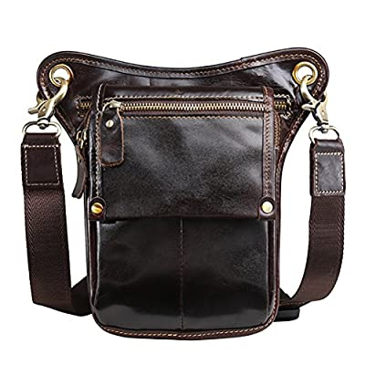 as described Fityle Lady Girls Waterproof Leather Waist Pack Bum Belt Bag Shoulder Messenger Bag Brown