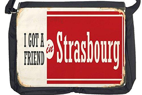 Borsa Tracolla Voglia Viaggiare Città Strasburgo Francia Stampato