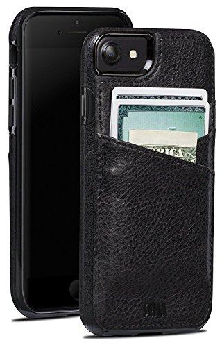 Sena Premium Stand Case (Sena Cases Lugano Wallet Premium Leather Heritage Cover for the iPhone 7 (Black))