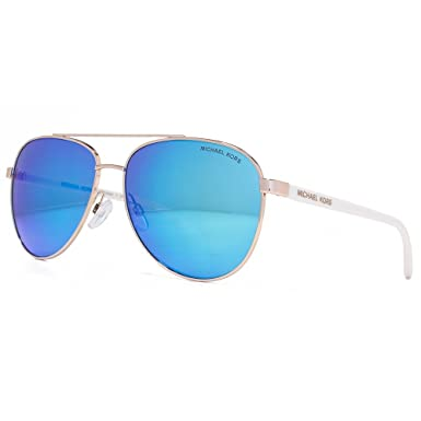 be923c58df Michael Kors Hvar Aviator Sunglasses in Rose Gold White MK5007 104525 59   Amazon.co.uk  Clothing