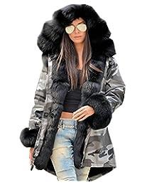 Roiii Winter New Ladies Casual Coats Women Jacket Warm Hoodies Long Trench Parka
