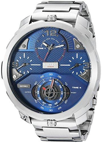 Diesel Men's DZ7361 Machinus Analog Display Analog Quartz Silver Watch