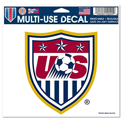 Team USA Soccer Official SOCCER 4.5 inch x 6 inch Car Window Cling Decal by Wincraft, ()