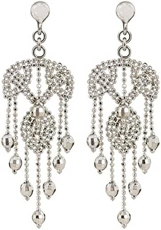 NOVICA .925 Sterling Silver Chandelier Earrings, 'Ballroom Dancer'