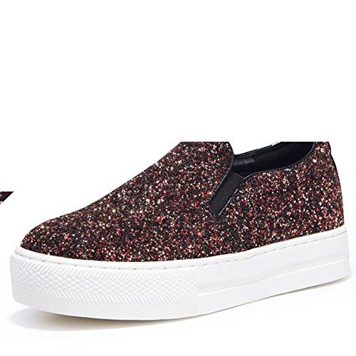 Otoño moda glitter plataforma/Zapatos de las mujeres/ zapatos de poco profundas A