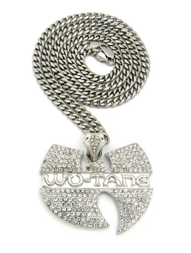 New iced out wu tang pendant 6mm36 stainless steel link import new iced out wu tang pendant 6mm36 aloadofball Images