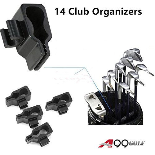 A99 Golf 14 Club Holder Organize Your Irons Driver Putter Bag ()