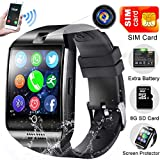 Smart Watch Phone with SIM Card,Outdoor Sport Smartwatch with Camera for Android iOS Women Men Touchscreen Wrist Fit Pedometer Fitness Tracker Watch Sleep Monitoring Smart Phone Call Music Playing