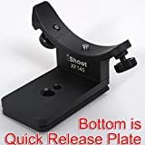 iShoot Metal Lens Collar Replacement Base Foot Stand Adapter for Fuji XF 100-400mm F4.5-5.6 R LM OIS WR Telephoto Lens Tripod Mount Ring-Bottom is Camera Quick Release Plate Feature