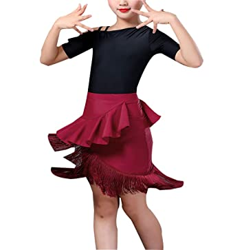 Falda de Baile Latino Desgaste de Las Niñas - Manga Corta Disfraz ...