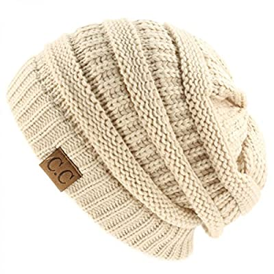 Tan_New Super Cute Thick Cap Hat 100% Acrylic Unisex Winter hat warm (US Seller)