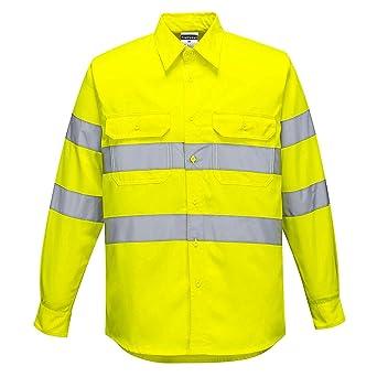 Portwest E044YERL Hi-Vis - Camisa de trabajo, talla L, color amarillo