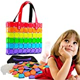 Regilt Girls DIY Assembly Handmade Handbag Cute Makeup Bag Intelligence Toys for Birthday Gifts & Party (Rainbow)