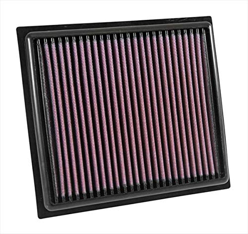 (K&N engine air filter, washable and reusable:  2014-2019 Jeep/Fiat L4 1.4/1.6/2.4 L (Compass, Renegade, 500x)  33-5034)